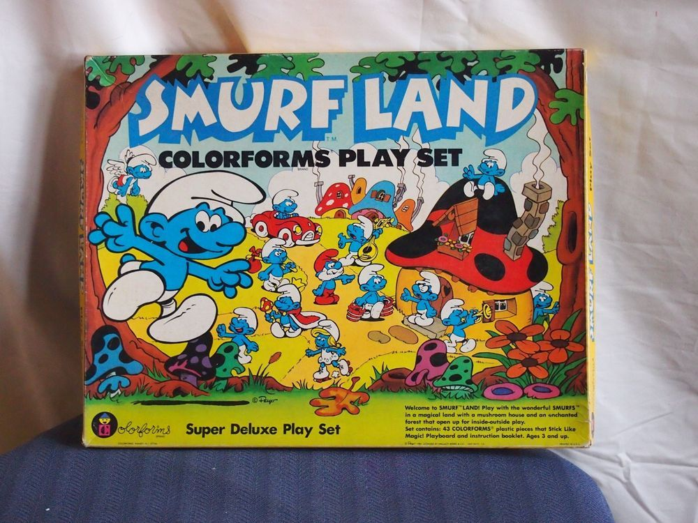 1981 Smurf Land Colorforms Play Set #4115 on eBay  I love