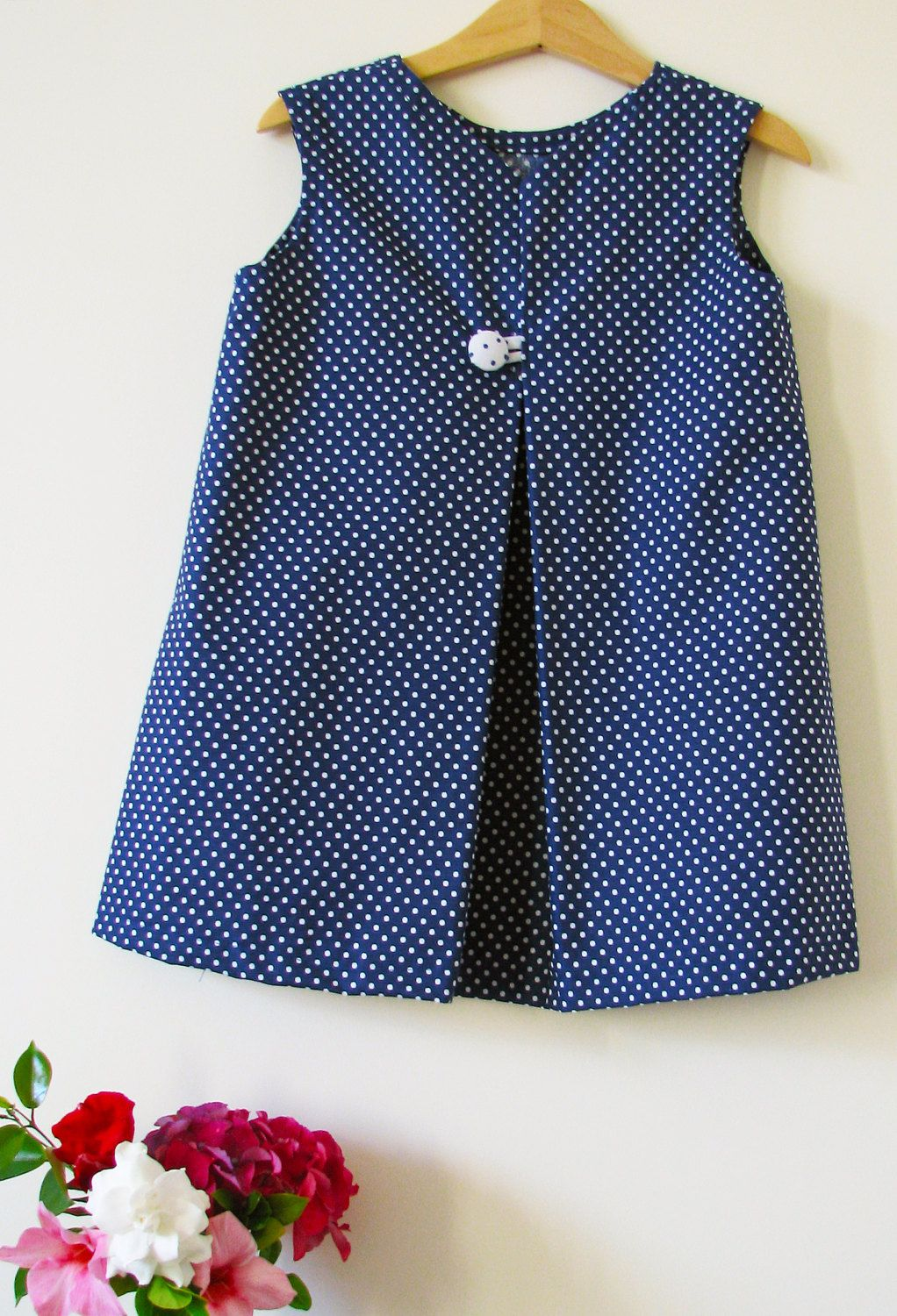 0212bb377 Toddler or girls dress with one pleat and many dots by RosaeMimi on ...
