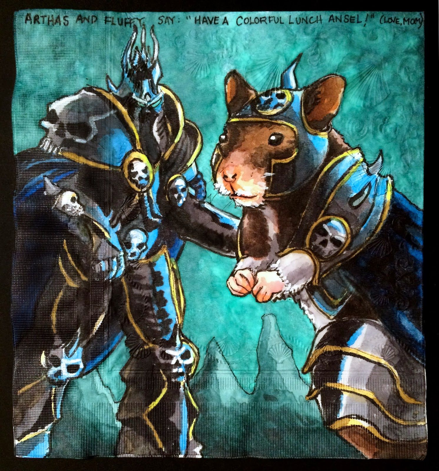 Daily napkins arthas from world of warcraft with giant hamster video games that they are too young to play continue to entice our kids more specifically our almost 11 year old does the research an robcynllc Image collections