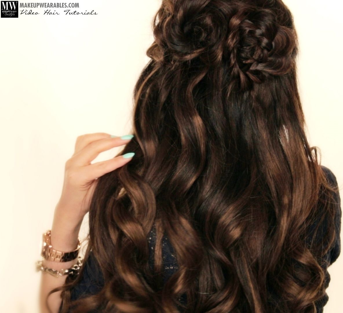 Spring Flower Braid Half Up Half Down Hairstyle Tutorial Video Half Up Hair Hair Tutorial Down Hairstyles