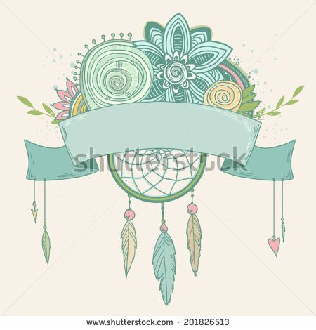 Vintage frame with place for text. Vector greeting card