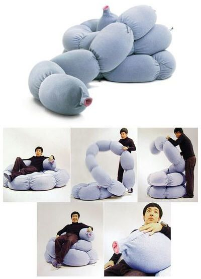Bulldang Configurable Sofa Mimics Intestines, Snakes Into A Variety Of Shapes