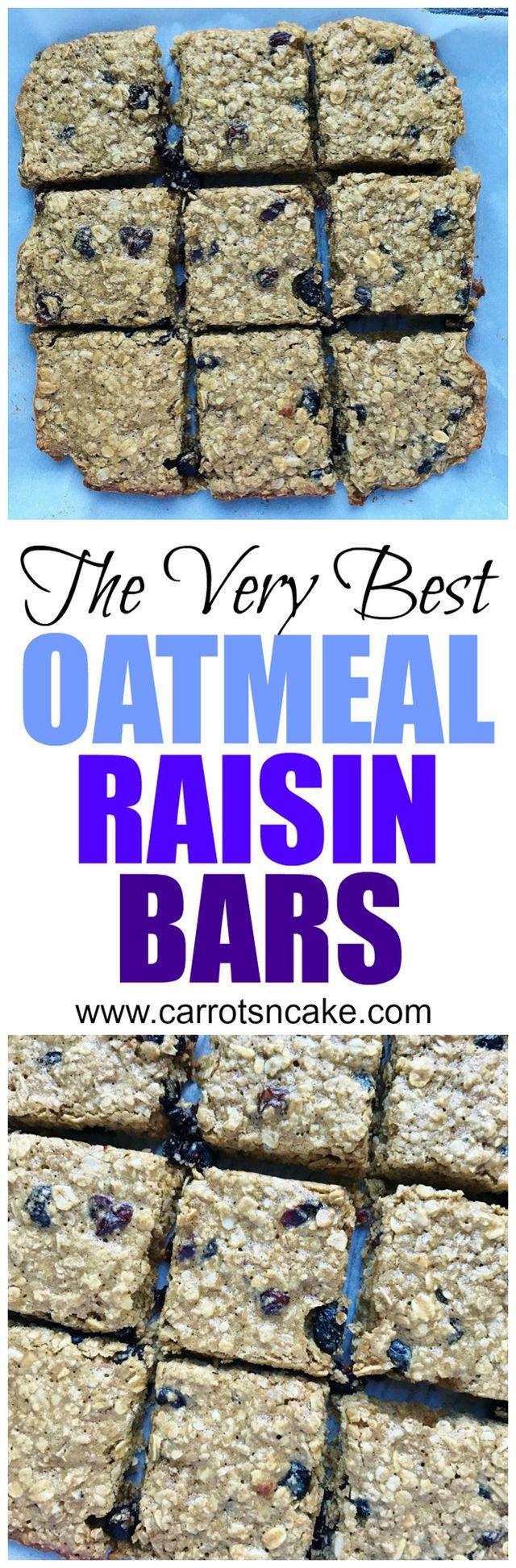 The Very Best Oatmeal Raisin Bars