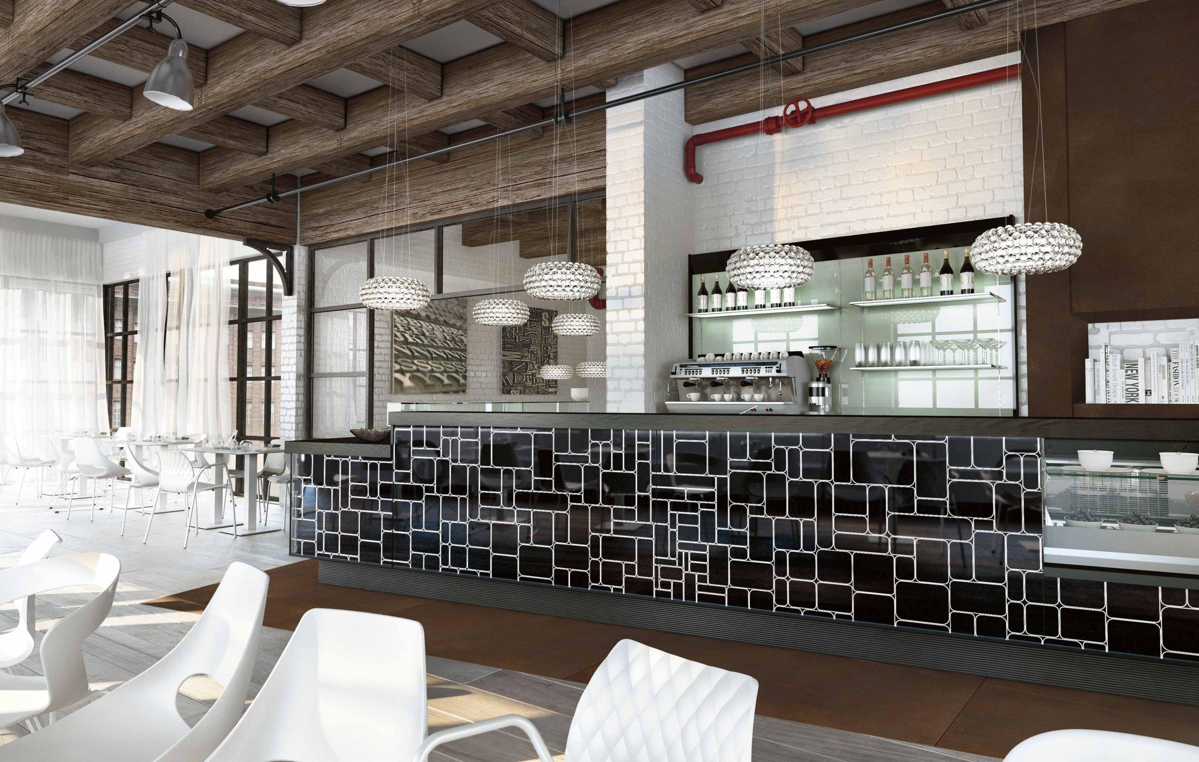 Il banco bar Rainbow, ideato del designer Valter Panaroni, è un ...