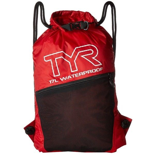 081d54422c04 TYR Alliance Waterproof Sack Pack (Red) Drawstring Handbags ( 30) ❤ liked  on Polyvore featuring bags