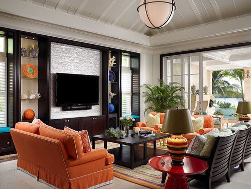 Georgiana Design - Vero Beach oceanfront family room John David - salones de lujo