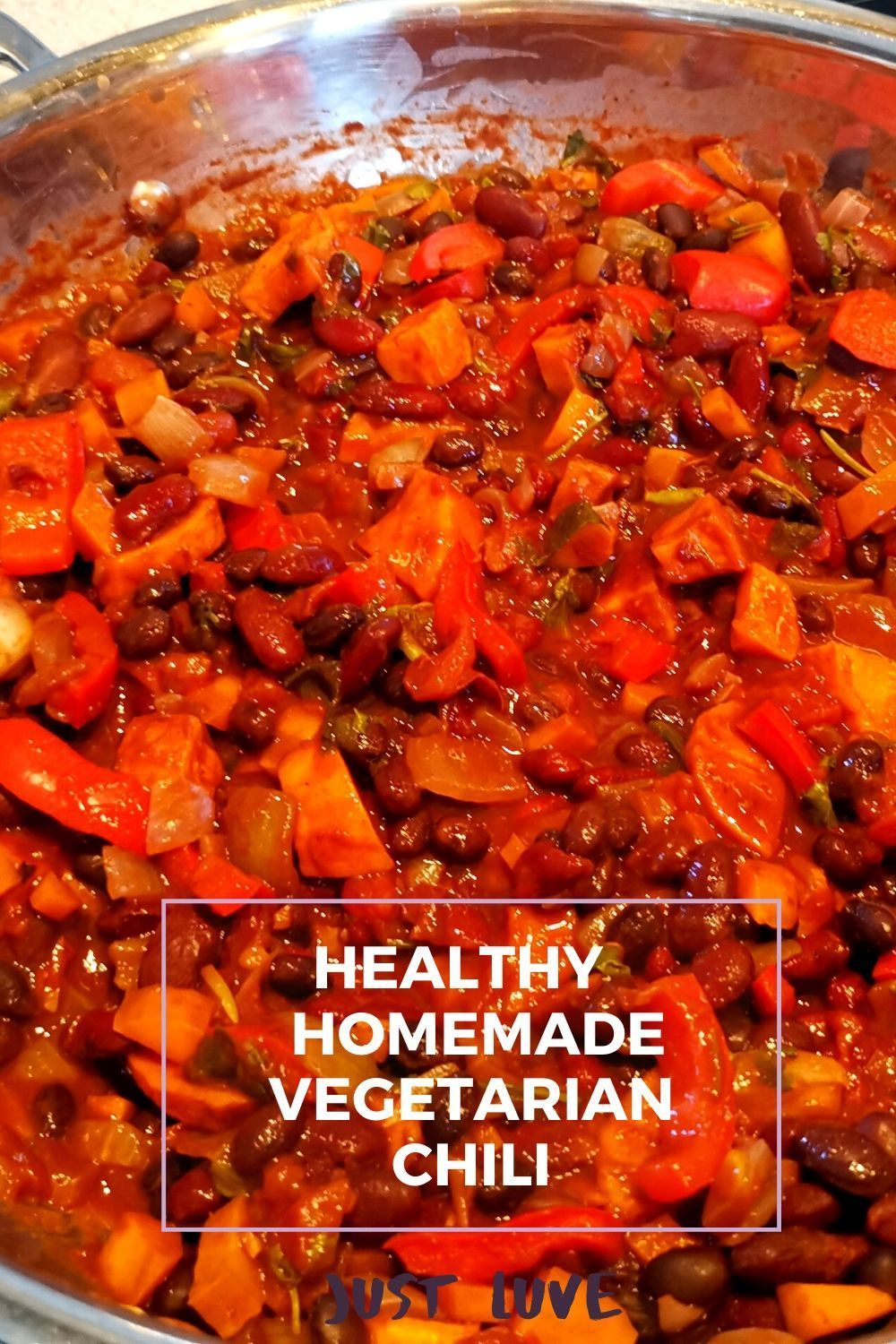 Vegetarian Chilli With Black Beans Sweet Potato And Red Wine Recipe In 2020 Real Food Diet Vegetarian Chili Homemade Chili Recipe