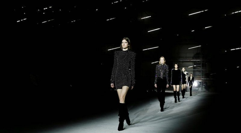 """Fury over """"#degrading"""" #SAINT LAURENT ad #campaign... Painfully thin models..."""
