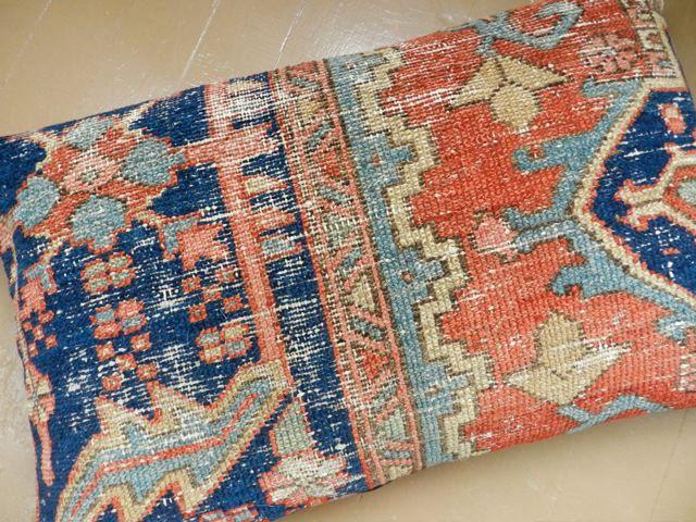 Persian Rug Pillow Kilim Oriental Carpet Large Cushion