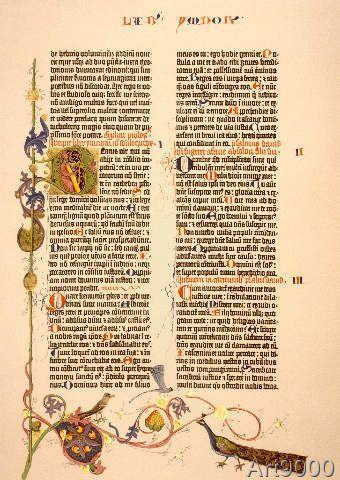 Johannes Gutenberg - Gutenberg-Bible, Initial B ...