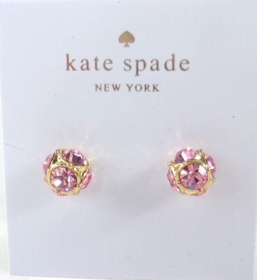 5c4fa4d9e Kate Spade O0RU1810 Lady Marmalade Gold tone Pink Crystal Stud Earrings NEW!  #KateSpade #Stud