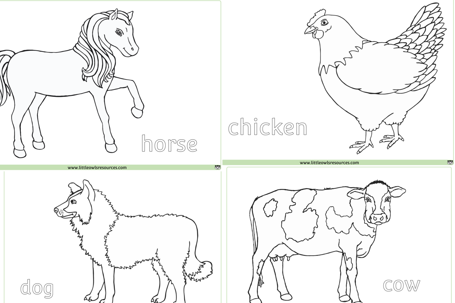 FREE Farm Animals Colouring printable Early Years/EY (EYFS ...