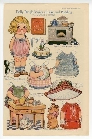 75.2981: Dolly Dingle Makes a Cake and Pudding | paper doll | Paper Dolls | Dolls | Online Collections | The Strong