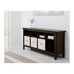 IKEA - HEMNES, Tavolo consolle, mordente bianco, , Il legno massiccio dona…