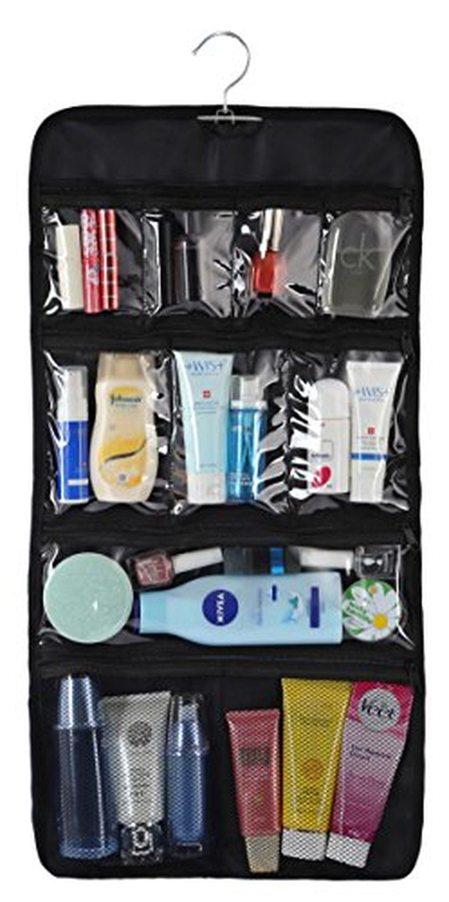 Wodison Transparent Clear Hanging Travel Toiletry Cosmetic