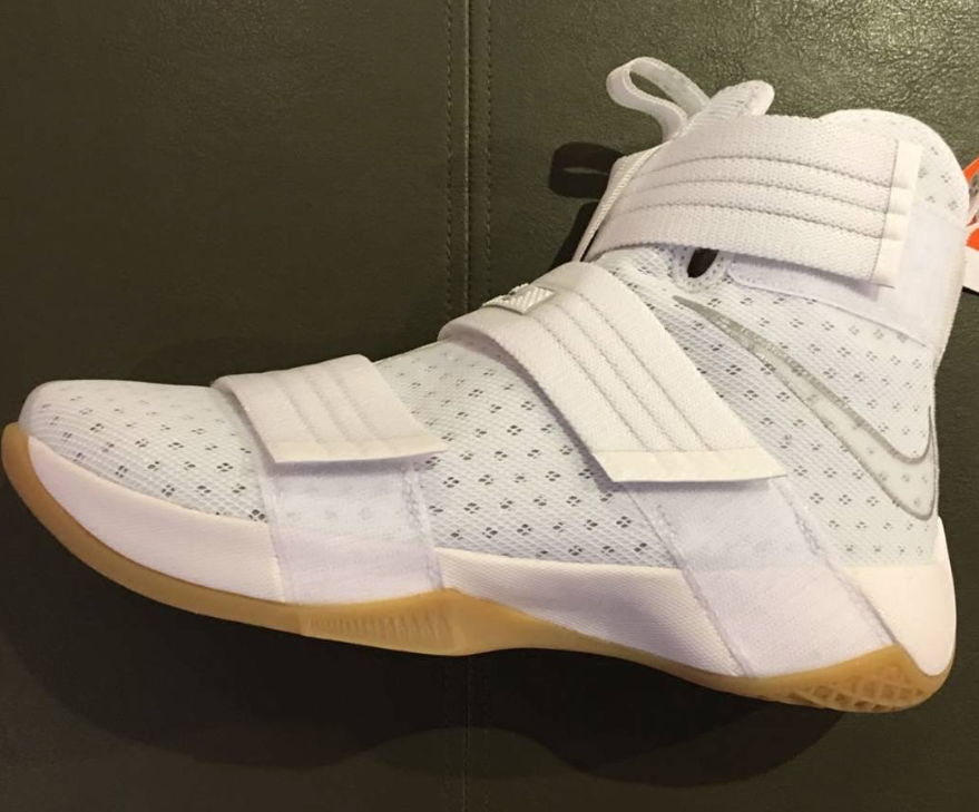 A Preview Of The Nike LeBron Zoom Soldier 10 White Gum