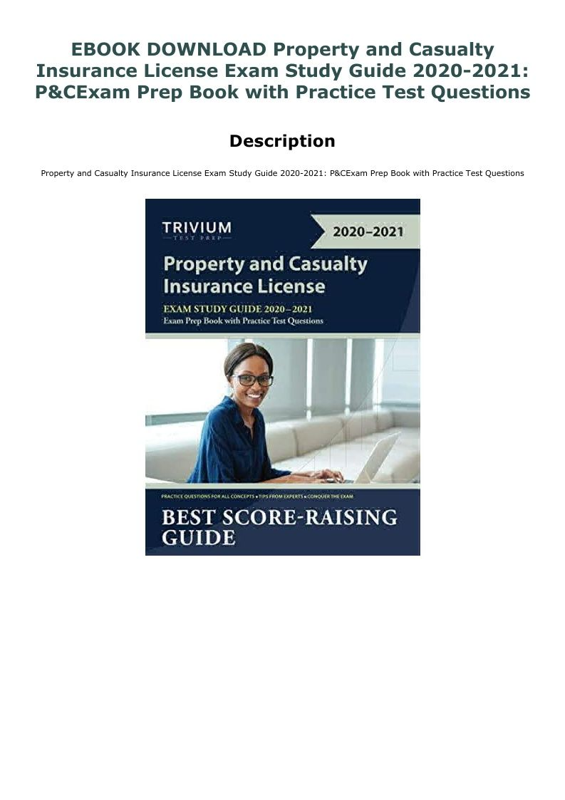 Ebook download property and casualty insurance license