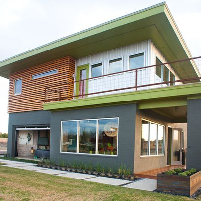 Modern home exterior paint colors design ideas pictures for Modern painted houses pictures
