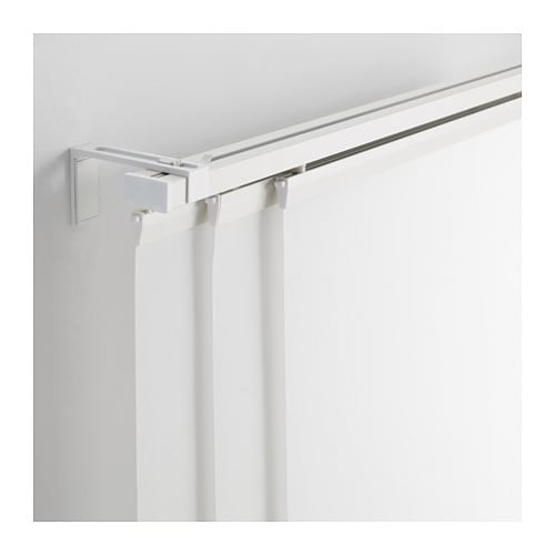 Ikea Vidga Triple Curtain Rail White Curtain Rails Curtains