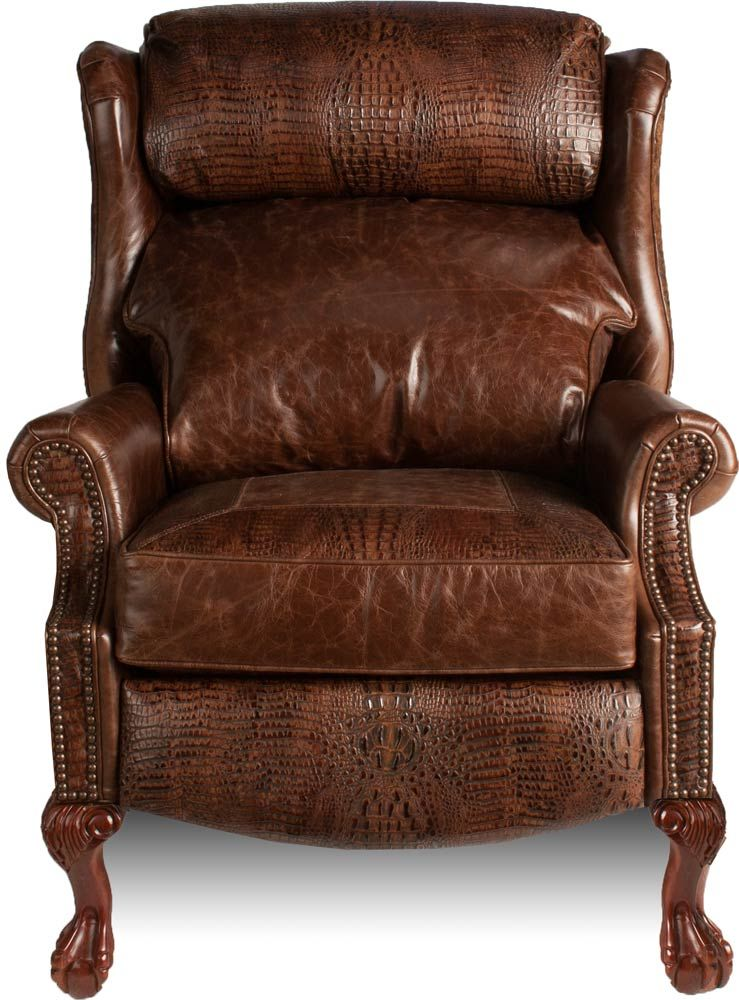 Wing Chair Recliner Leather Ergonomic Calculator Queen Anne Recliners Lazy Boy Traditional Brown Clgl
