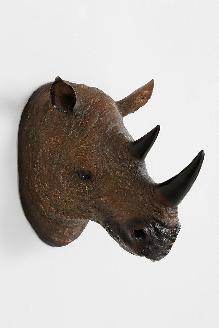 Rhino Head Wall Sculpture
