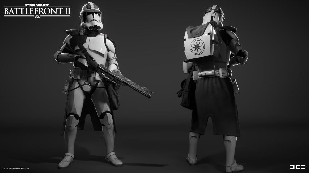 Artstation Star Wars Battlefront 2 Clone Trooper Heavy Class Bjorn Arvidsson Star Wars Pictures Star Wars Images Star Wars Clone Wars