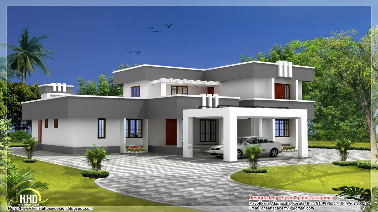Affordable Modern House Plans Newmodernhousedesign Flat Roof Design Flat Roof House Designs Flat Roof House