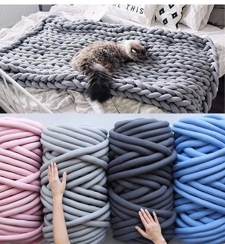 Bulky chunky yarn for hand knitting crochet soft big