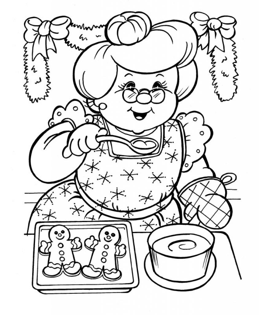 Santa Claus Coloring Pics Printable Christmas Coloring Pages