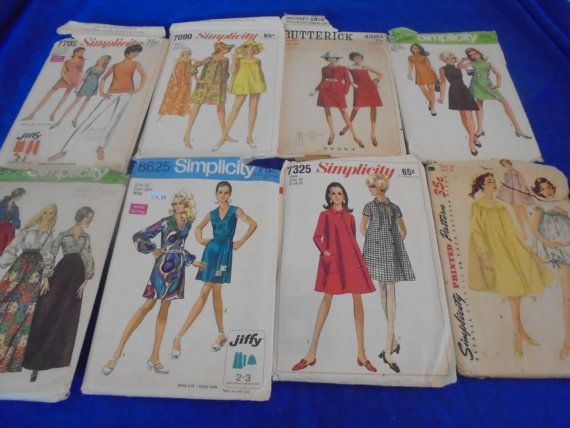 All Sz 10 U Pick 1950s 1960s Sewing Patterns by AngieFoundit4U