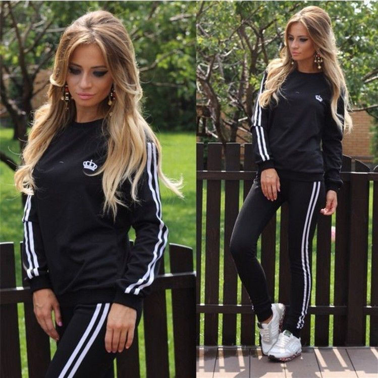 3915d0fae24eb Free shipping Hot tracksuits women sport suits set 2016 New Autumn Jogging  Suits For Women ladies brand running sets sportwear