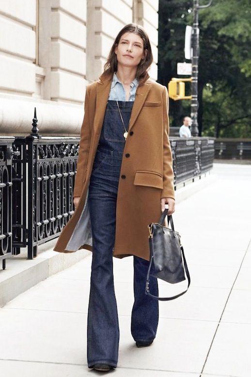 A Stylish Take On Flared Denim Overalls (Le Fashion) | Dark denim ...