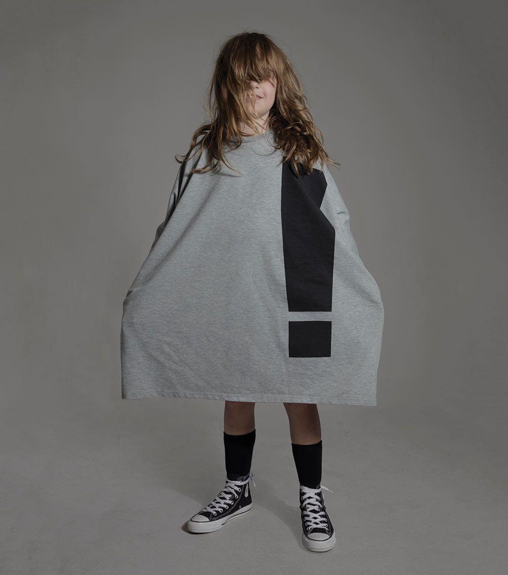 Voluminous and so comfortable, big baggy dress at Nununu Kidswear for fall/winter 2016