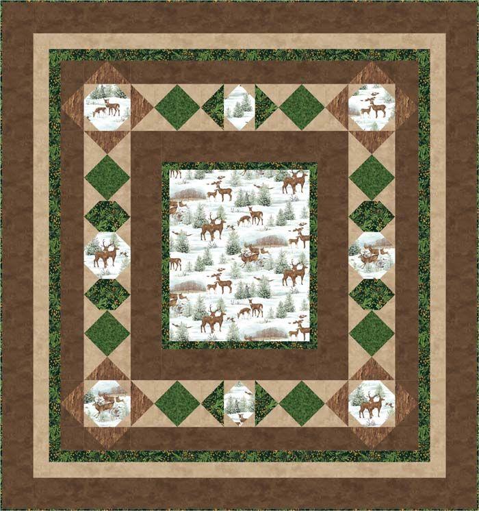 Walk Through the Snowy Woods Quilt Pattern BS2-327 (advanced ... : deer quilt patterns - Adamdwight.com