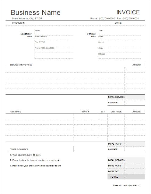 Service Quotation Templates Free Invoice Template Invoice Template Word Estimate Template