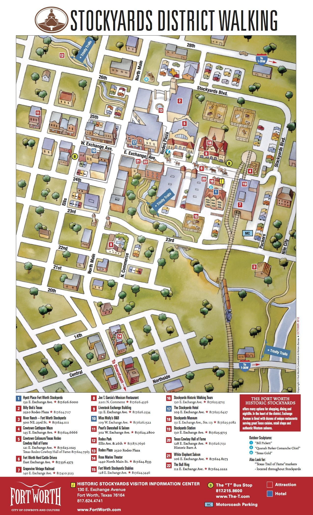 Stockyards District Walking Map | Fort Worth Maps | Pinterest | Fort ...