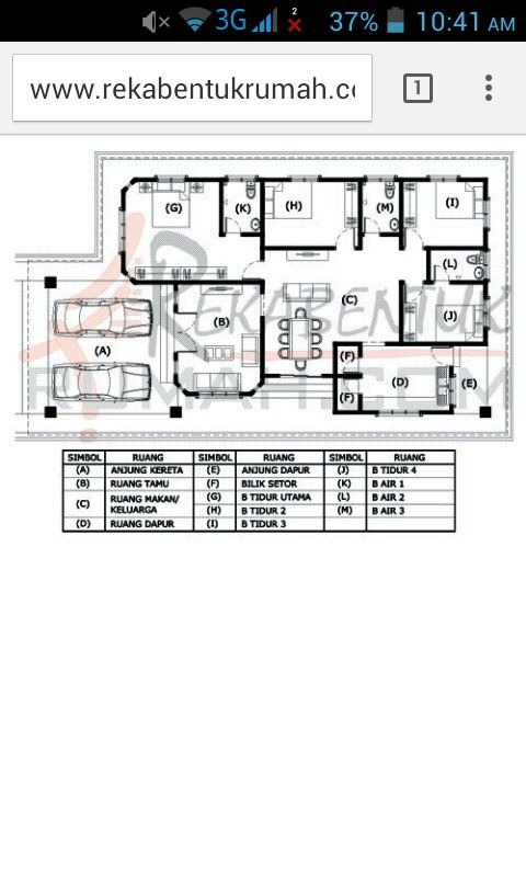 Idea Pelan Lantai Rumah House Plans Design Floor Home