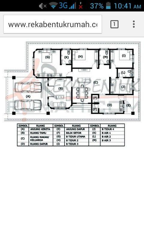 Idea Pelan Lantai Rumah House Plans Floor Plans How To Plan