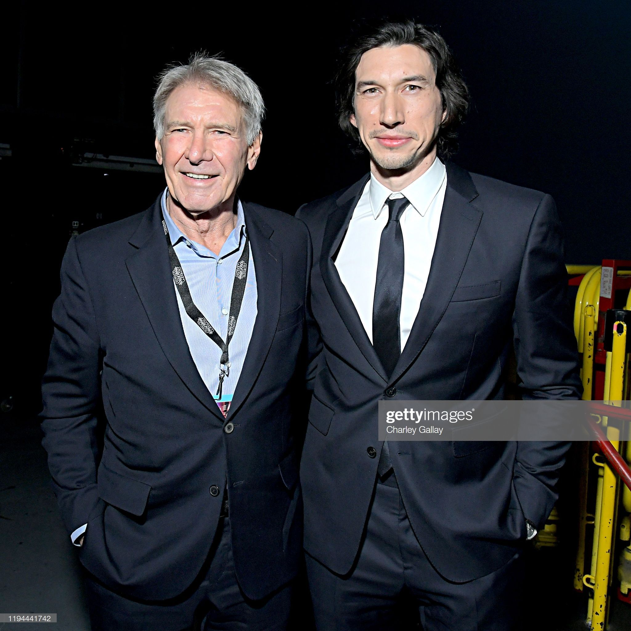 News Photo Harrison Ford and Adam Driver arrive for the