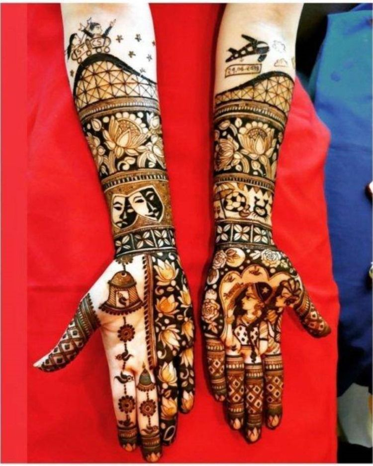 That bridal mehendi got to be the most beautiful and unique because it's your most special day!  #TheCrimsonBride #BeTheCrimsonBride #bridalmehendi #mehendidesigns #bridalmehendiinspiration