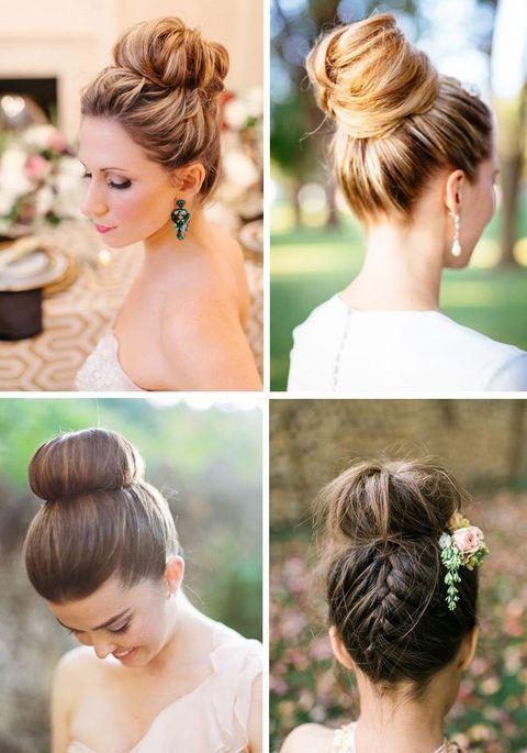 65 Elegant Bridal Top Knot Hairstyles Amazing Hair Pinterest