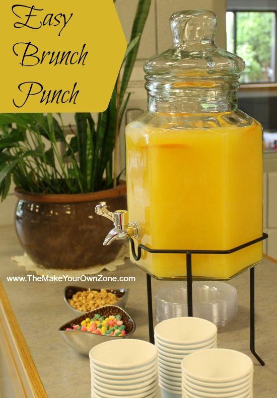 Orange juice punch for a morning brunch shower recipe for Food bar orange