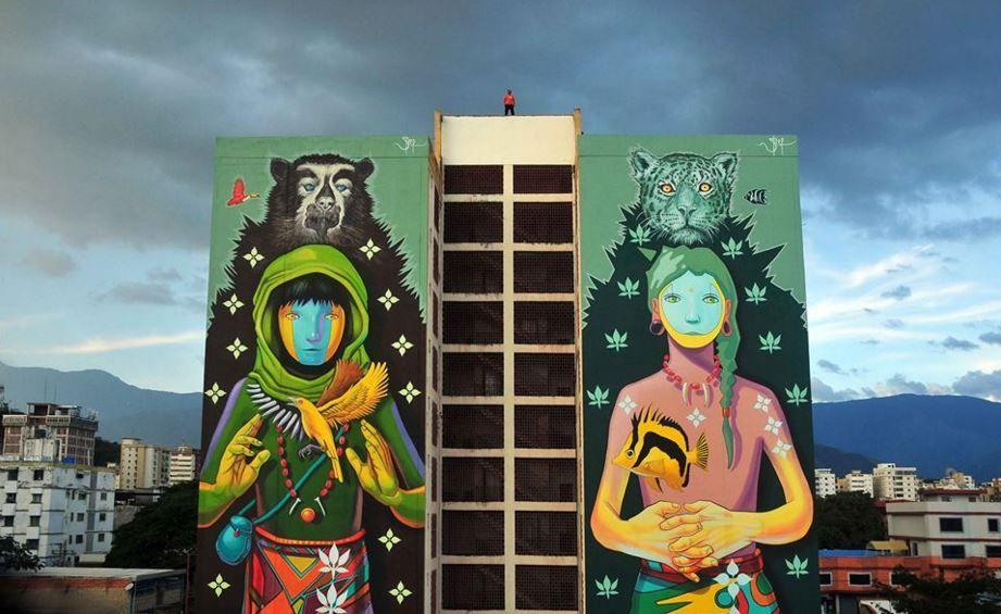 Maracay, #Venezuela new piece by #SteepArt #streetart #murales - murales con fotos