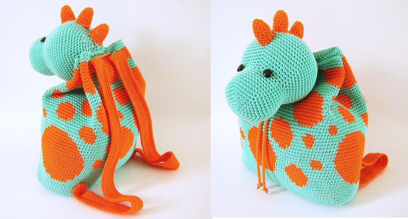 Crochet pattern for dino backpack | Pinterest