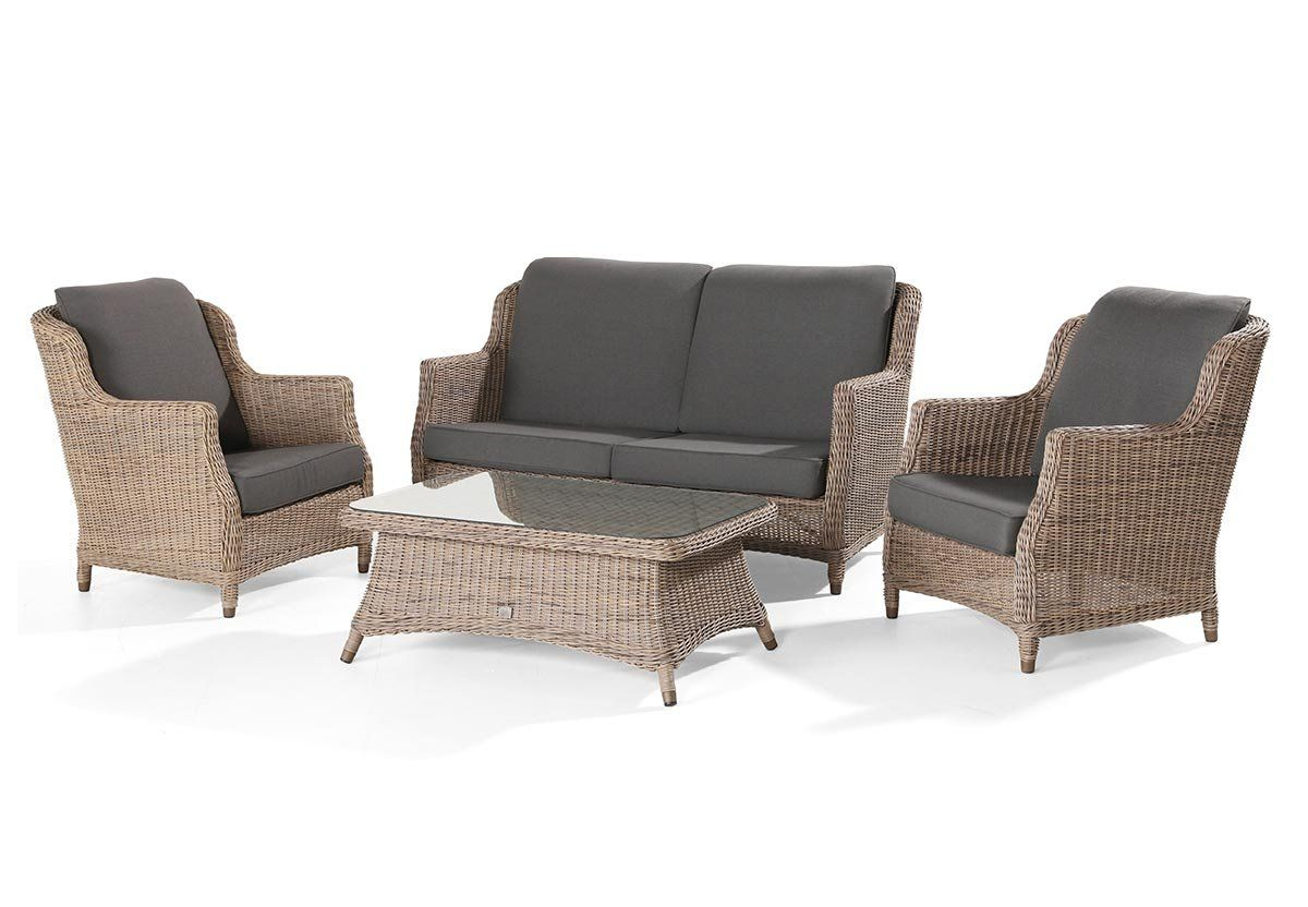 Outdoor Sofa Rund 4 Seasons Outdoor Brighton Lounge Set In Pure Footstool Extra