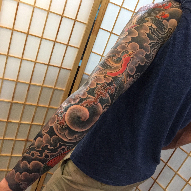 Irezumi arm tattoo by kyle ward kyledubb phoenix