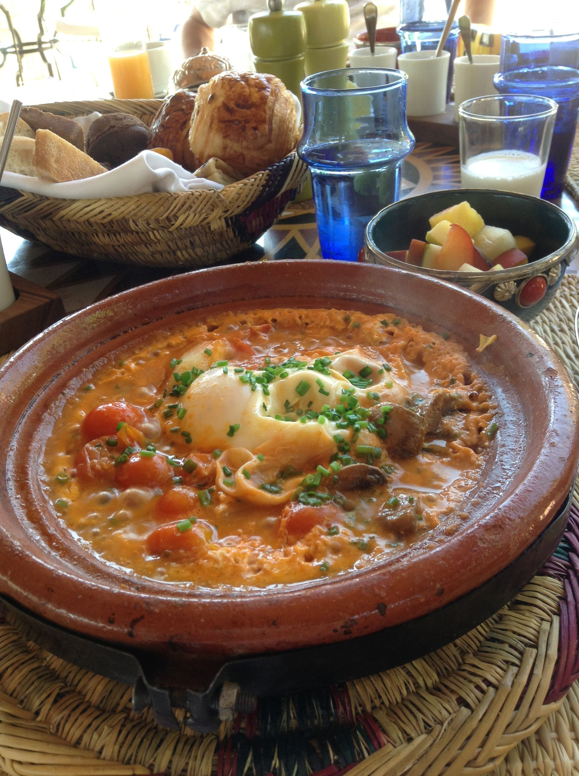 Breakfast tagine in Morocco