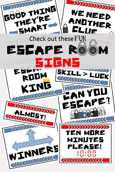 photograph regarding Escape Room Signs Printable named Escape House Signs and symptoms Escape Place Escape house, Place signs and symptoms