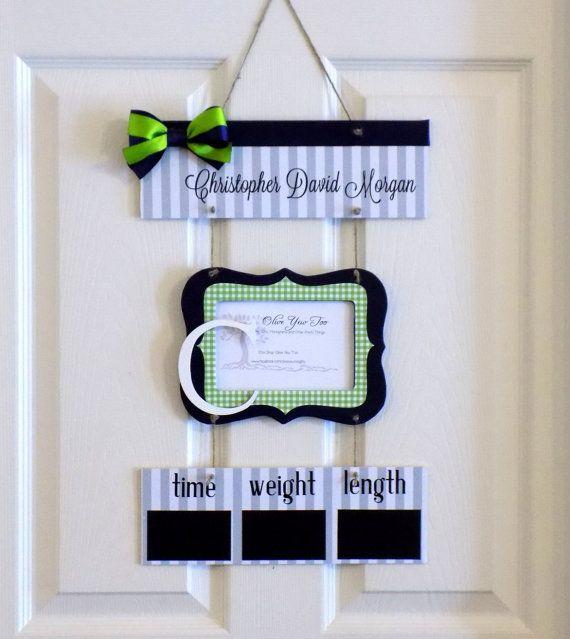 Charmant Items Similar To Welcome Baby Boy Navy U0026 Lime Hospital Door Hanger    Hospital Baby Sign   Baby Door Hanger   Nursery Hanger On Etsy