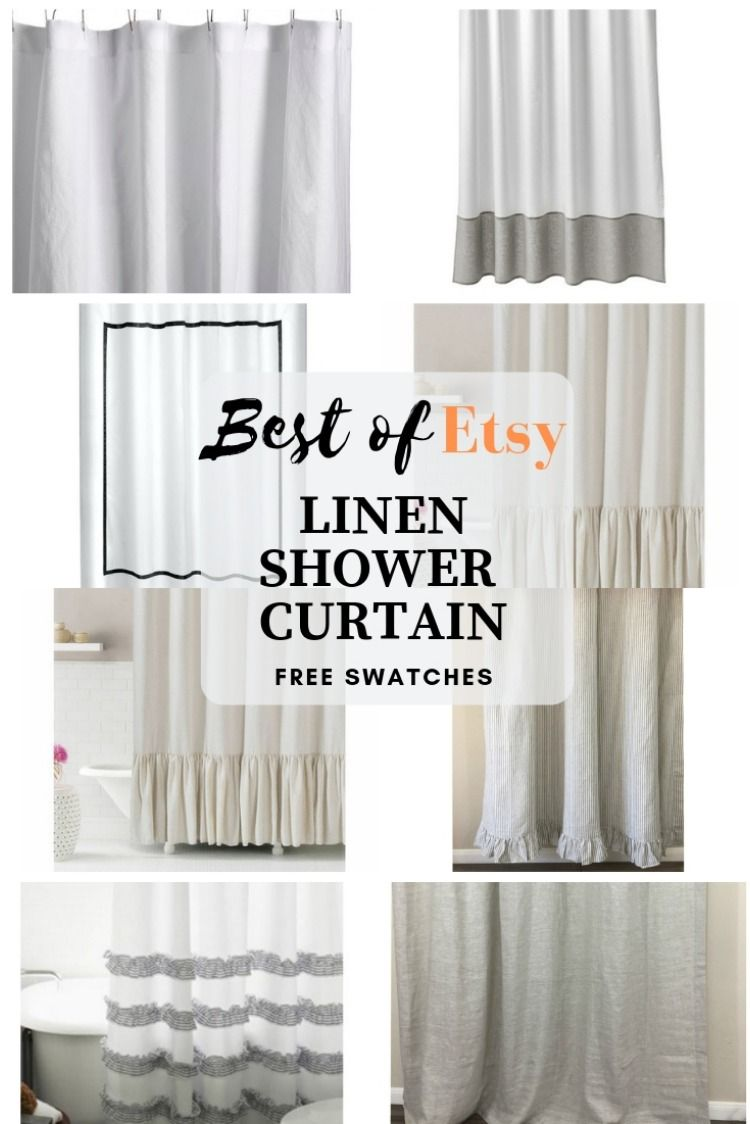 Natural Linen Shower Curtain Drys 3x Faster Various Styles To Dress Fabric Shower Curtains Extra Long Shower Curtain Farmhouse Shower Curtain